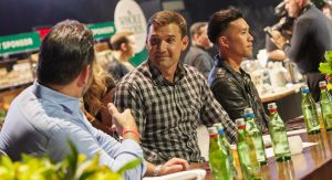 Ryan Zimmerman of the Washington Nationals at The Capital Food Fight 2018 drinking Mountain Valley Spring Water.